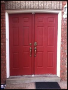 red door before