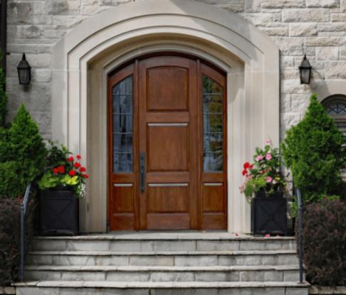 Fibreglass front entry door